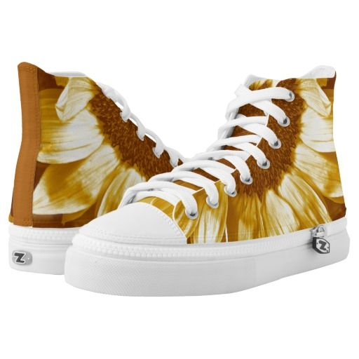 Sunflower Energy Hi-Top Sneakers Printed Shoes