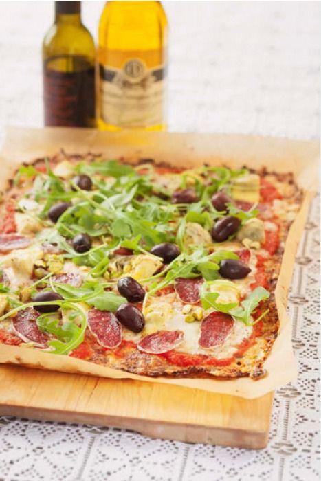 pizza med blomkålsbotten