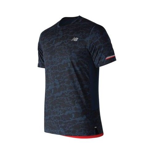 9c8c699d57e Men s New Balance MT81201 Printed NB Ice 2.0 Short Sleeve Tee - Galaxy  Short Sleeve Shirts