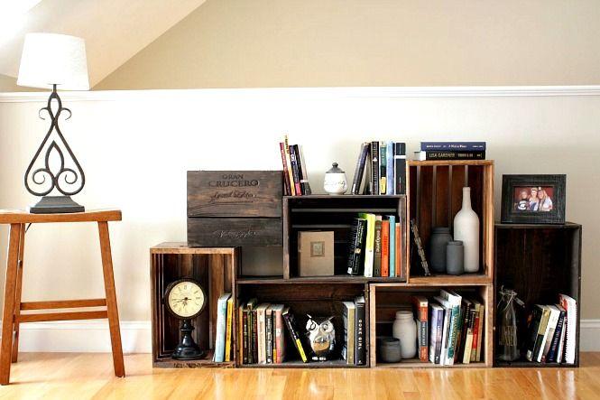 Napravite Armantne Police Za Knjige Wooden Crate Shelves Bookshelf Diy
