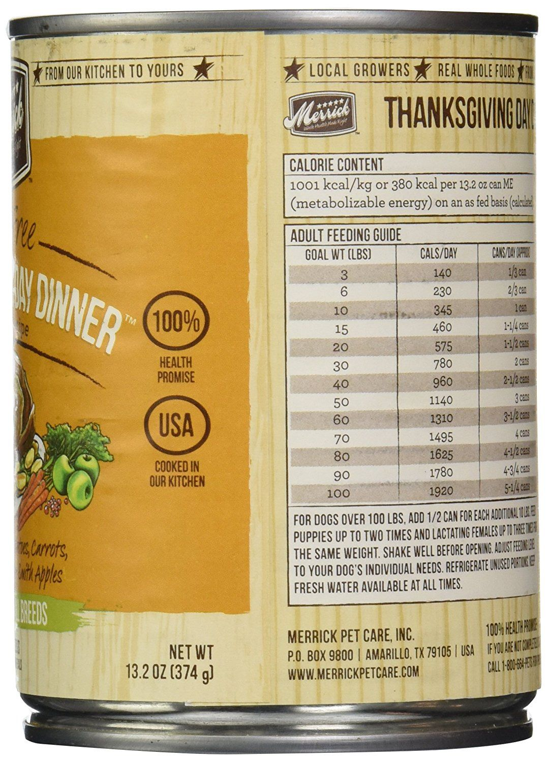 Merrick Canned Dog Food 5 Star Thanksgiving Day Dinner 13 2 Oz