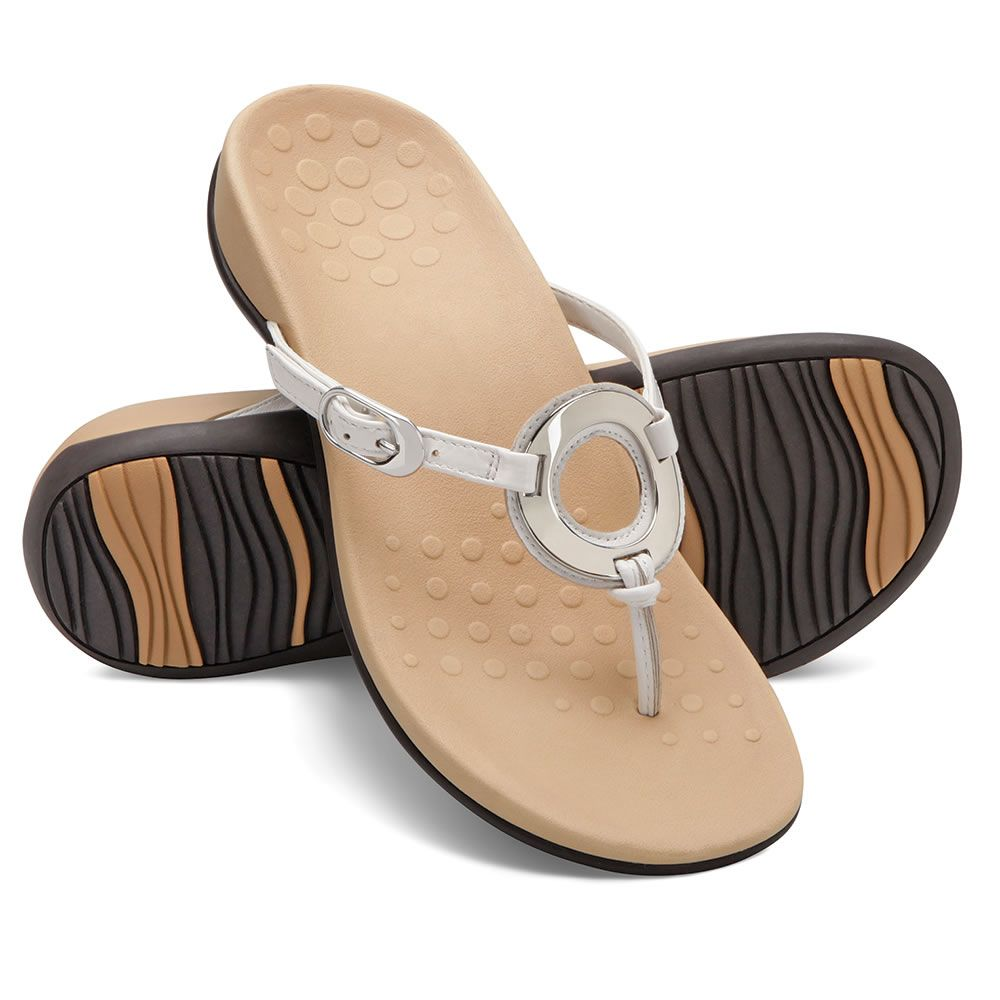 c22c0b6b64 These are the o-ring sandals that help to combat the effects of plantar  fasciitis with a comfortably soft, stabilizing orthotic footbed that  provides ...