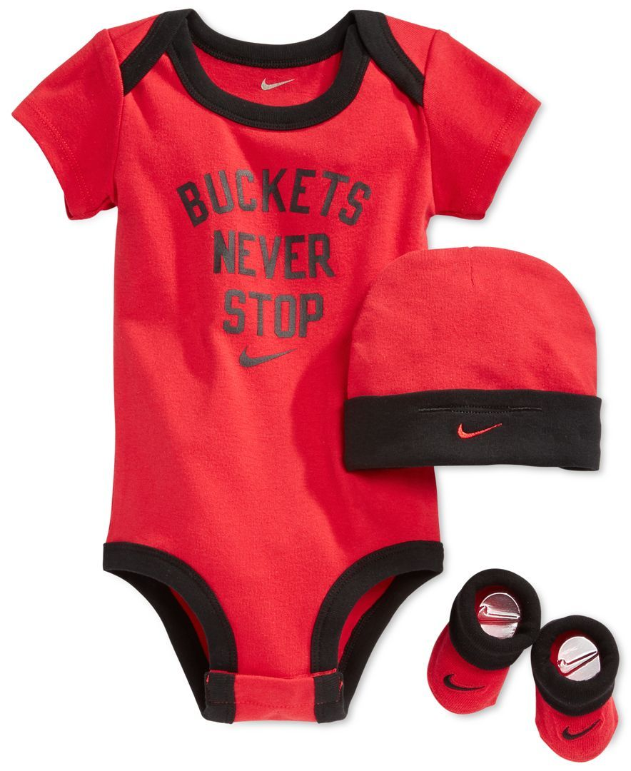 2f17a5965 Nike Baby Boys  3-Piece Buckets Never Stop Bodysuit