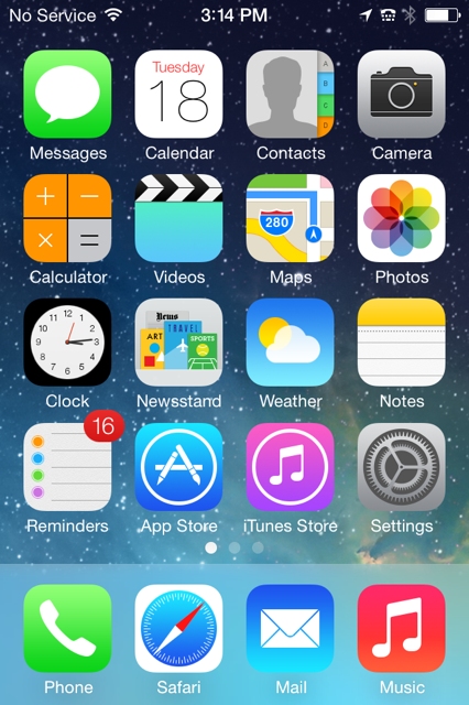 Gallery Of Ios7 Screen Shots Ios 7 Apple Ios Apple