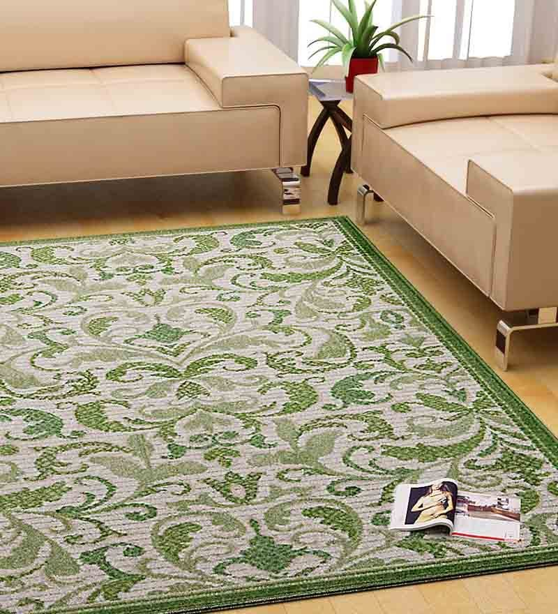 Eden Accent Rug Green By Riva Carpets Online Indian Ethnic Furnishings