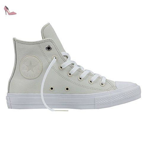 Converse Womens Chuck Taylor All Star II Hi White Leather Trainers 40 EU -  Chaussures converse 1147feebf