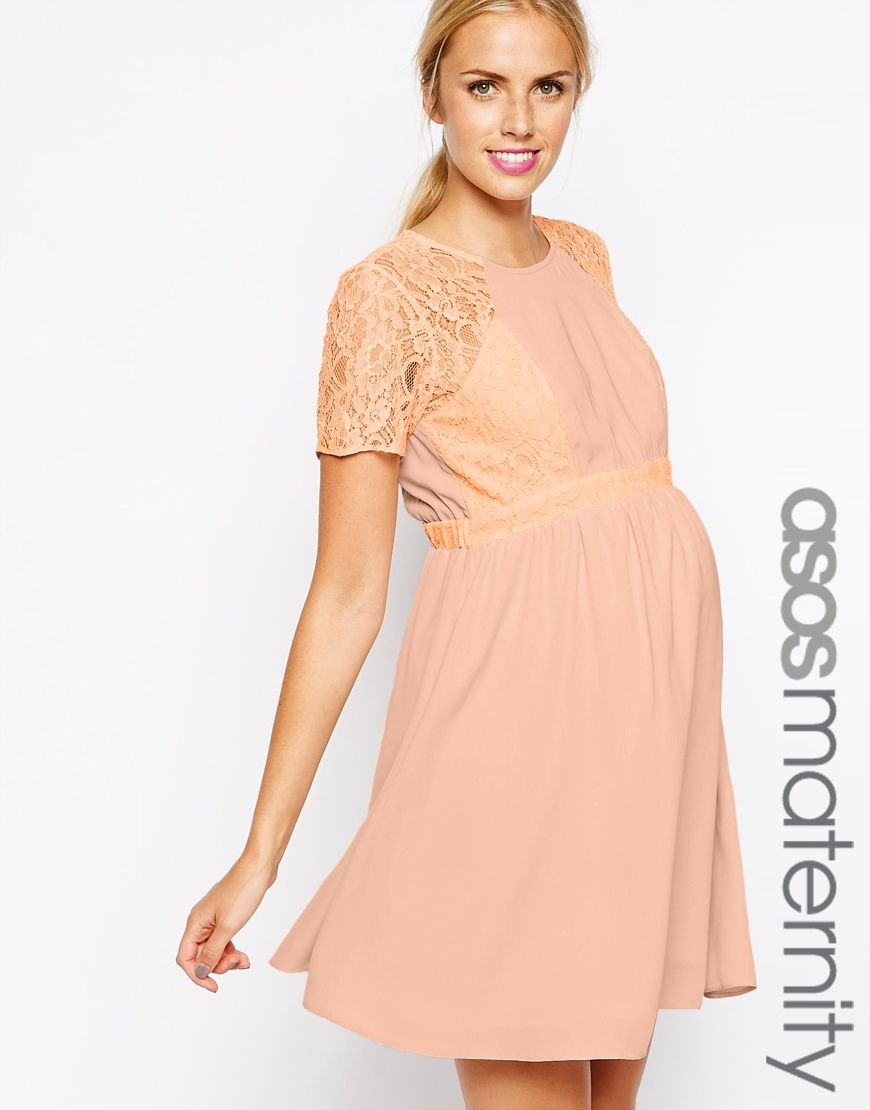 Asos maternity skater dress with lace panel pregnant pinterest