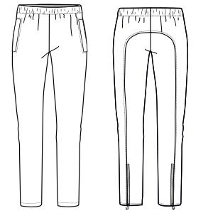 Modelos De Ropa Profesional Hazlo Tu Mism Pantalon Deportivo 7344 Dama Pantalones Molde Modelagem
