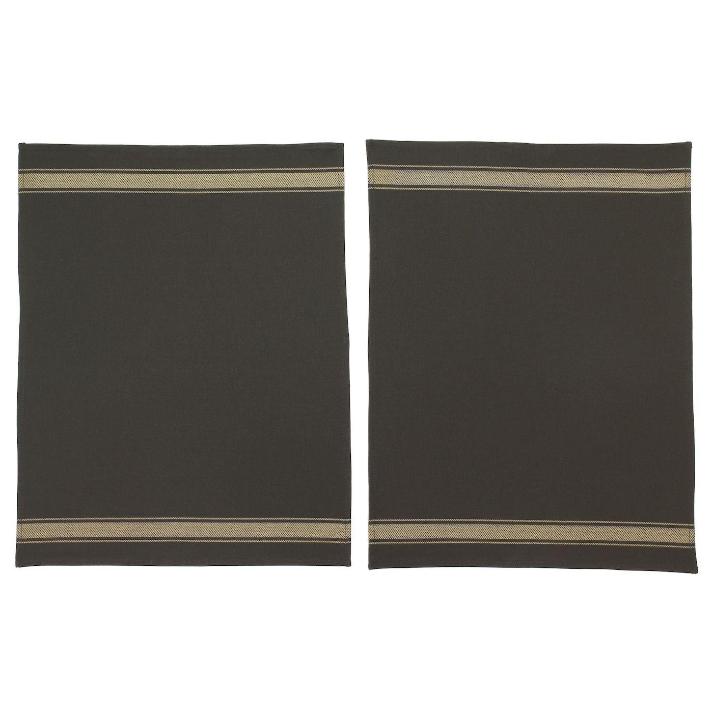Ikea Vardagen Black Dish Towel Dish Towels Tea Towels Ikea