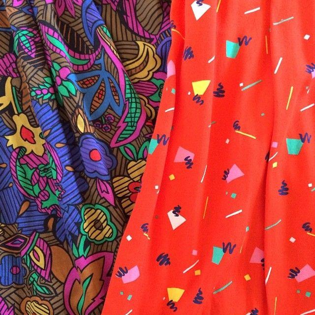 Vintage fabric! #elahawkevintage #new #stock #vintage #skirt #skirts #comingsoon #website