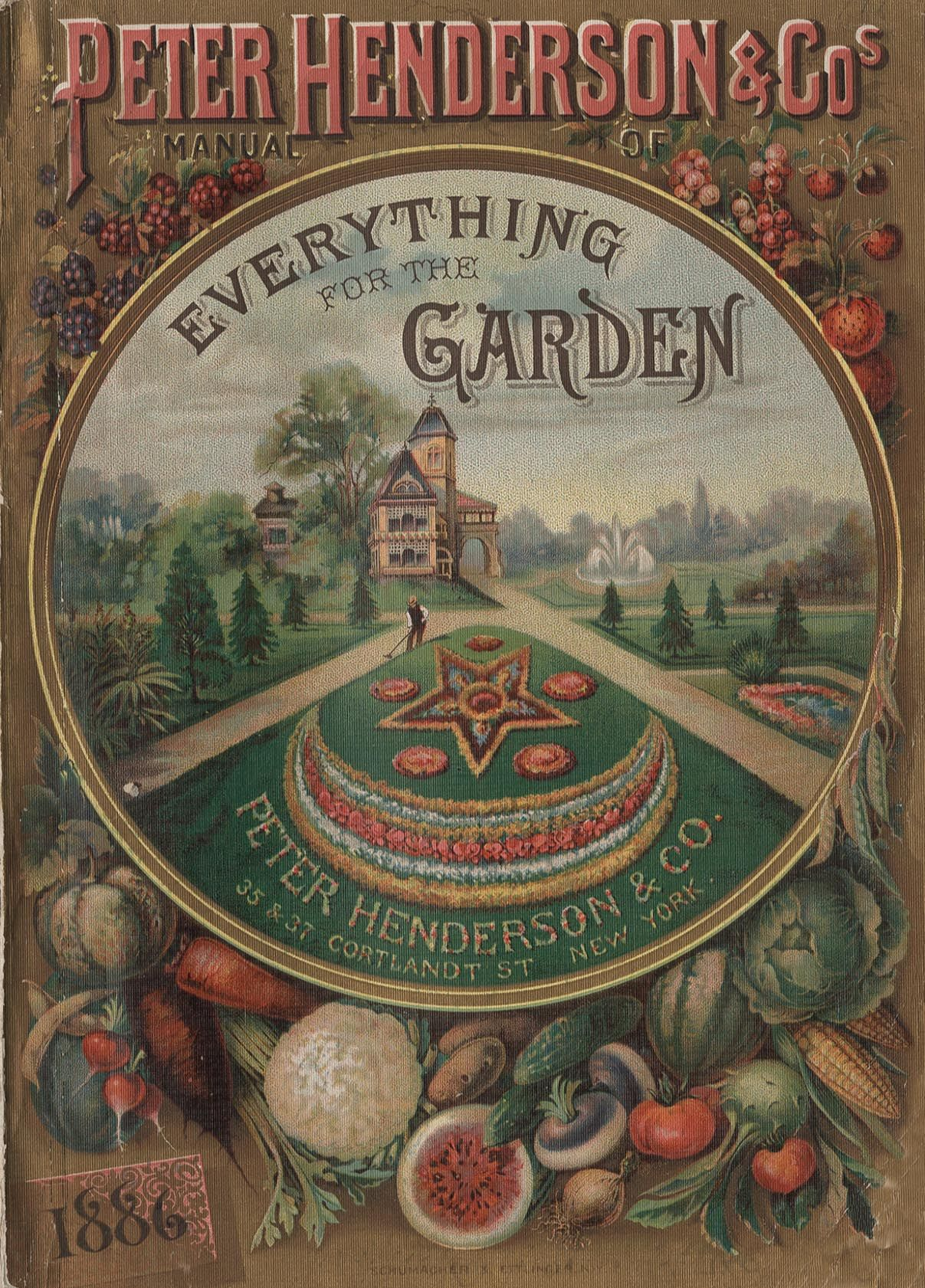Bedding on the front cover of this Peter Henderson Company seed ...
