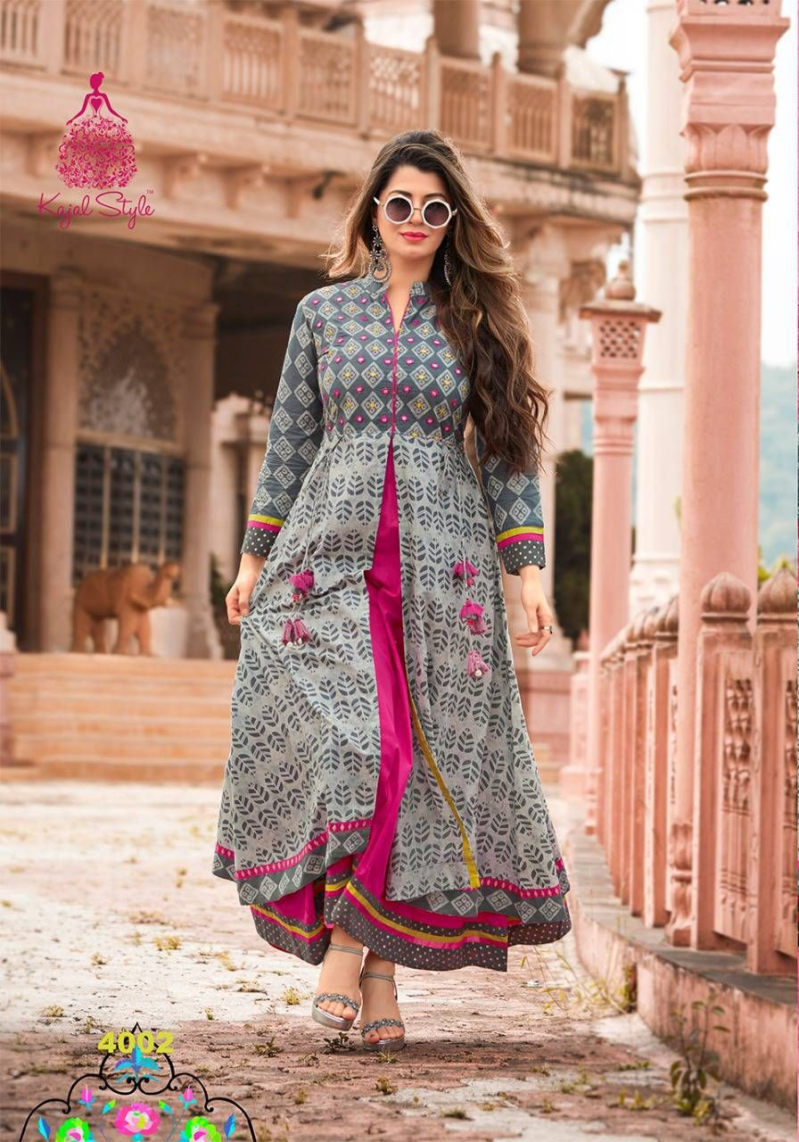 c40dfaa5ba6 Long frack Kurti With Jacket, Western Dresses, Indian Dresses, Indian  Outfits, Indian