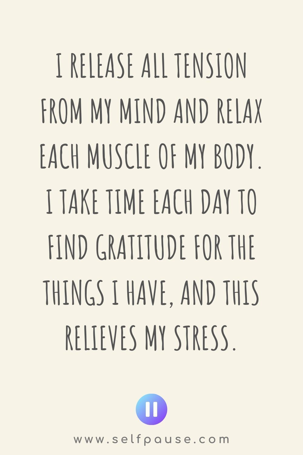Stress Relief Quotes Stress Relief Affirmations - Selfpause