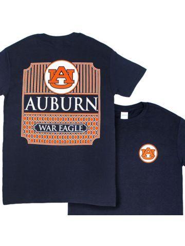 Southern Couture Preppy Auburn Navy T-Shirt  e3bbf0c27