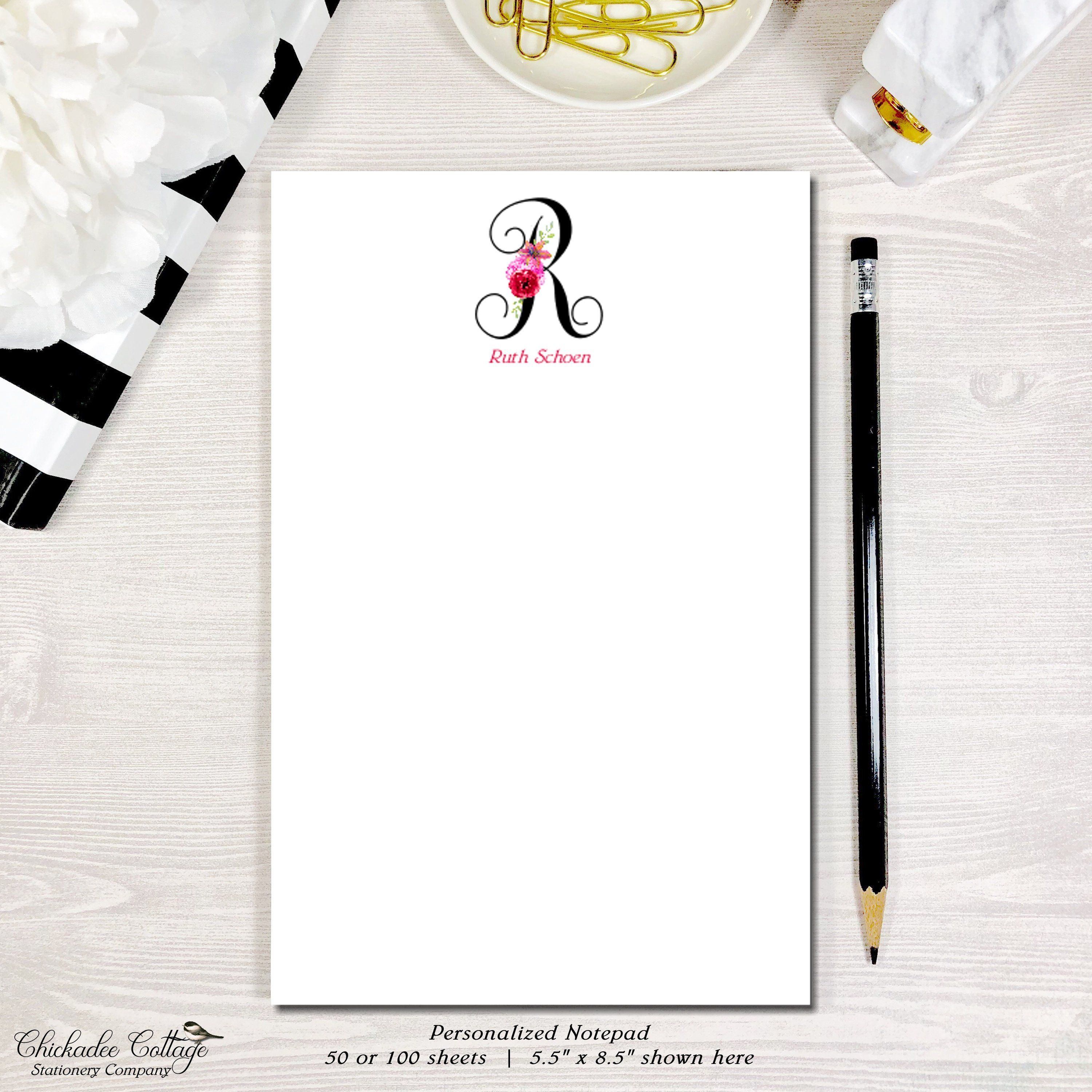 Personalized Family Notepad Parent Kids Family Name Pad Custom Stationery Large Personalized Family Name Notepad