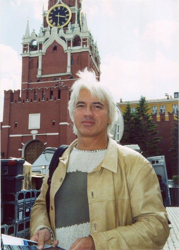 Dmitry Hvorostovsky In Red Square.  Beautiful hair!