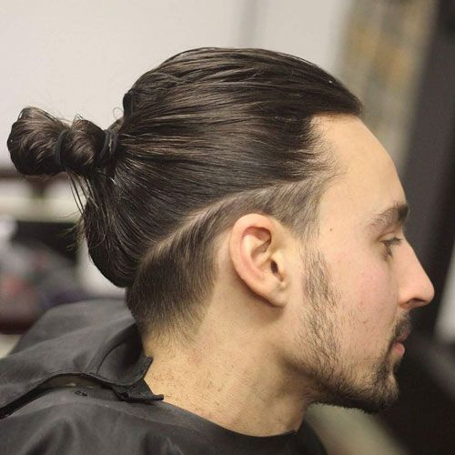 Man Bun With Low Fade In 2020 Undercut Long Hair Guy Haircuts Long Long Hair Styles