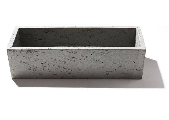 Nice O.S.B Rectangle Concrete Planter/Toiletry Holder