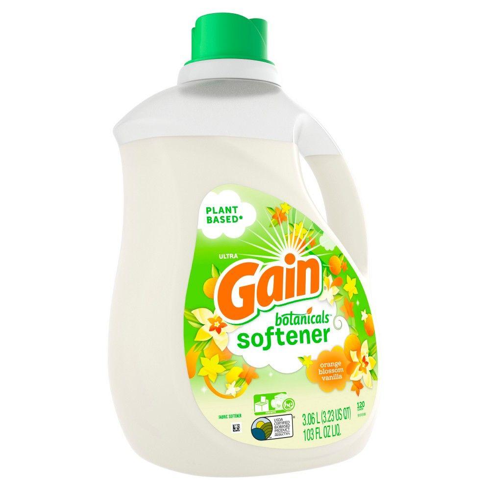 Gain Botanicals Orange Blossom Vanilla Liquid Fabric Softener