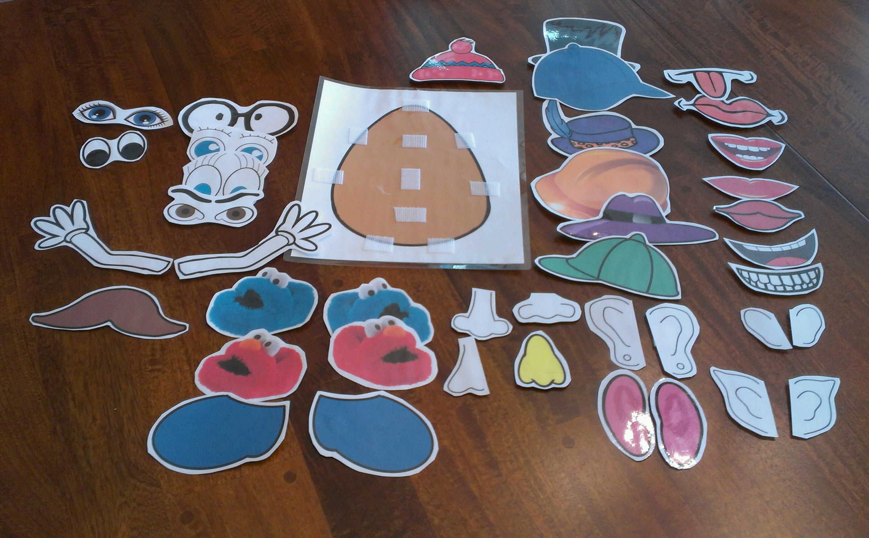 Mr Potato Head Parts Printable