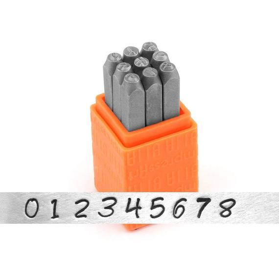 ImpressArt Bridgette Number Metal Stamps Set