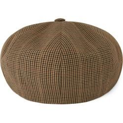 Photo of Spicchi Braune Hahnentrittmuster Newsboy Cap