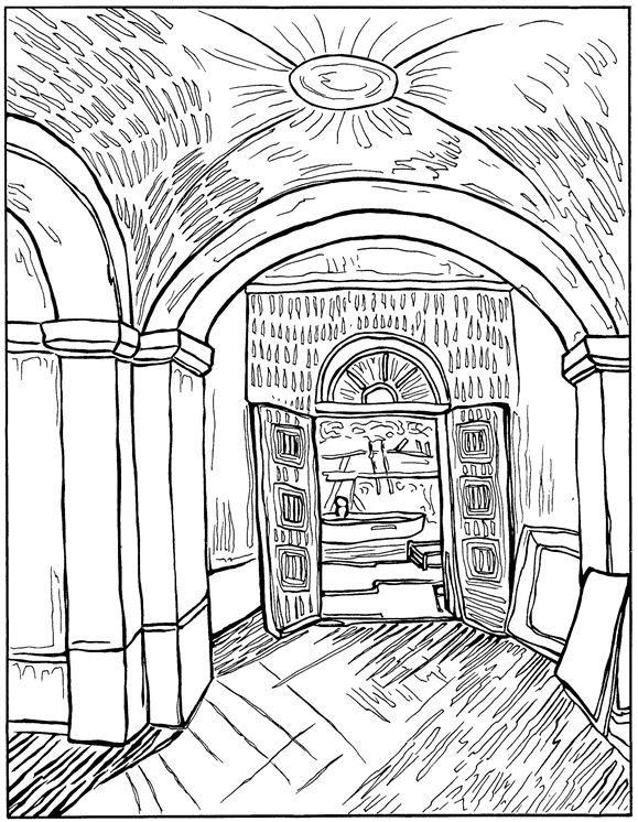 vincent van gogh coloring page vincent van gogh kids n fun - Van Gogh Coloring Book