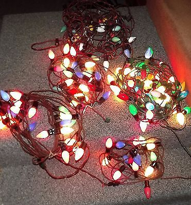 Lot 10 Strands Antique 1950s / 70s Outdoor Christmas Lights C9 Large - outside christmas decorations sale