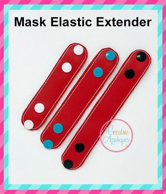 3 SIZES  In The Hoop Extender for Face Mask Elasti