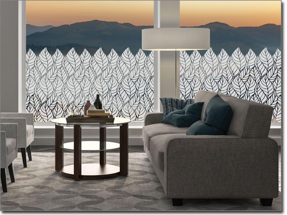Milchglasfolie Blätter Sichtschutzfolie Pflanzen Pinterest - folie für badezimmerfenster