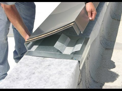 Metal Snap On Coping R Mer Edge Coping Application Excellence Youtube Cladding Design Roof Design Facade Architecture Design