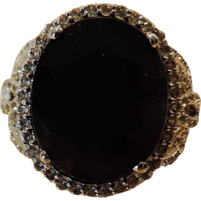 Blue Sapphire Lady Diana Ring, GLA Appraisal of $5,430. Magnificent from therecklessnecklace on Ruby Lane