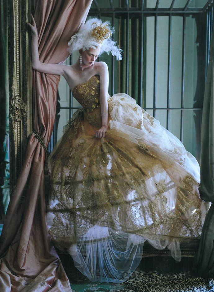 Edie Campbell & Karen Elson by Tim Walker for LOVE Magaine 10 Fall/Winter 2013/2014 | The Fashionography