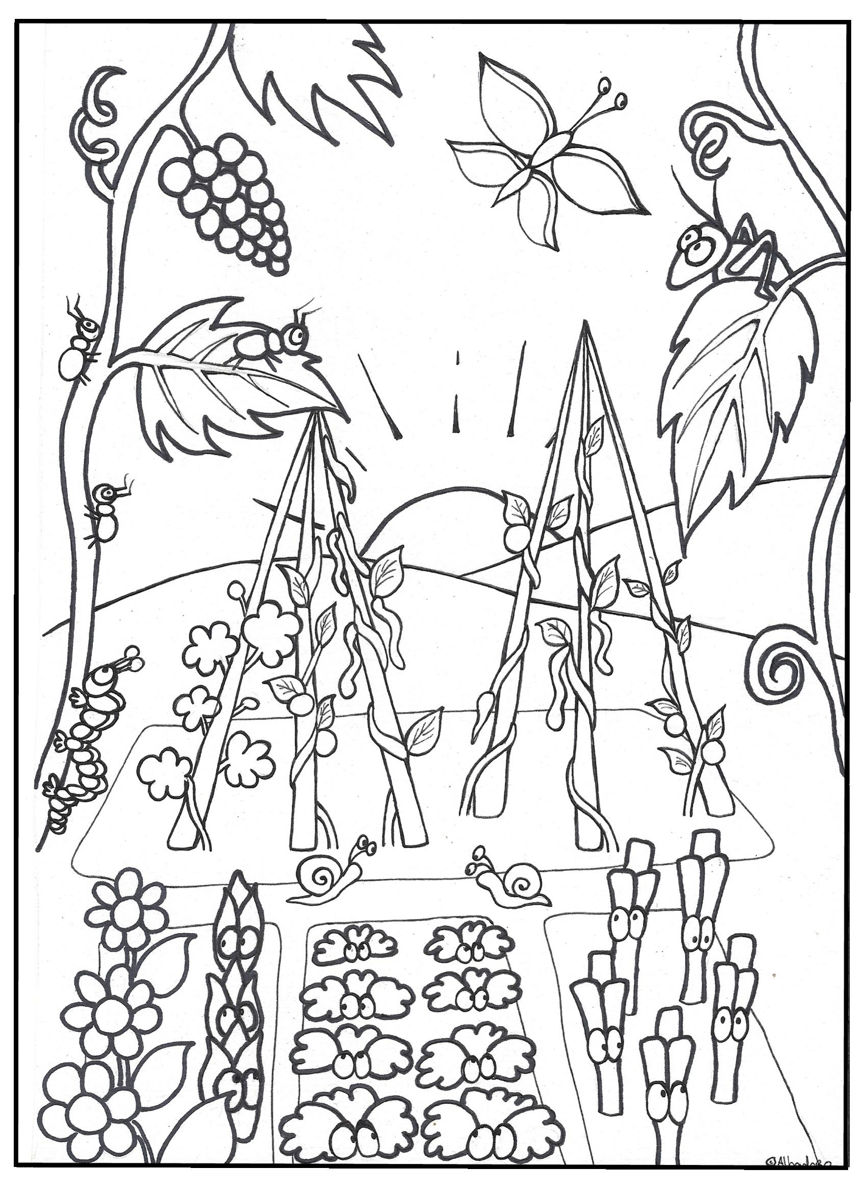 kleurplaat prentenboek ruzie in de moestuin marcustuin