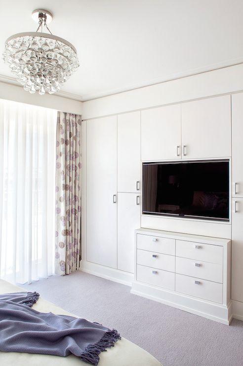 Built In Tv Niche Transitional Bedroom Blair Harris