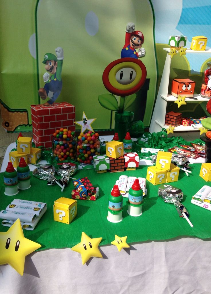 Mario Bros Candy Bar Fiesta Jose Gabriel Pinterest