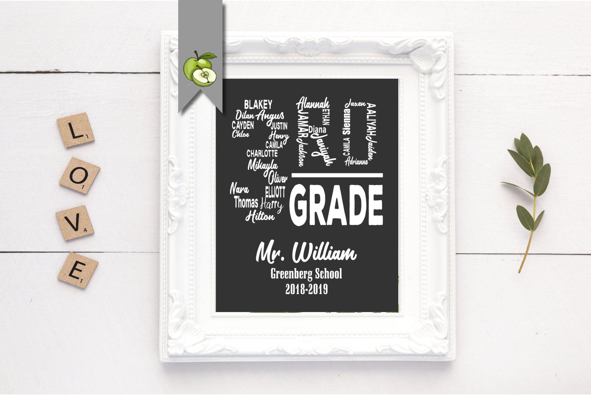 Teacher Appreciation Gift 2nd Grade 3rd Grade 4th Grade Teacher