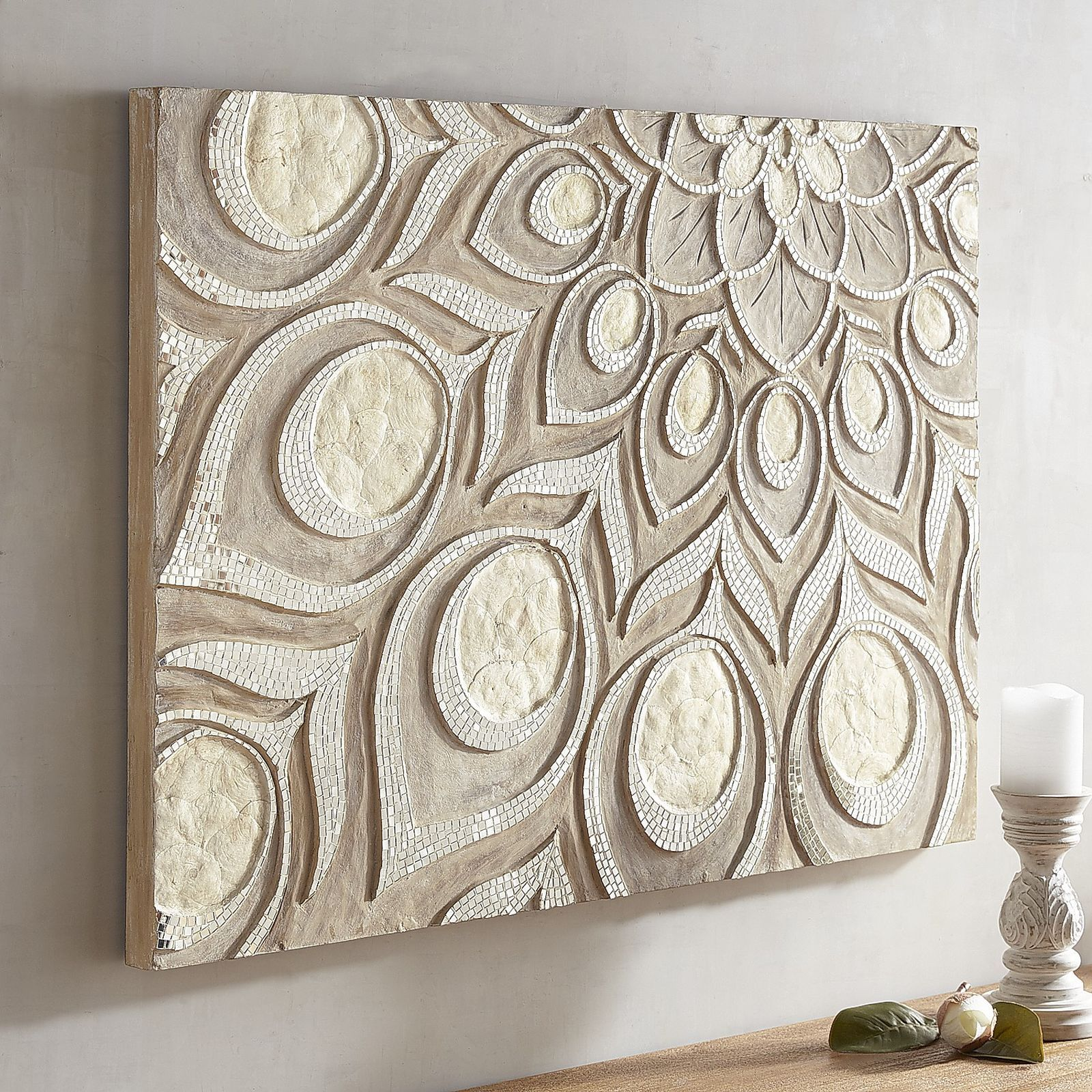 Peacock Capiz Carved Wall Panel   Pier 1 Imports   canvas ...