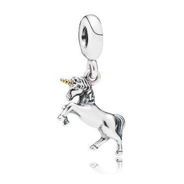 Perfect for Dia Pandora Unicorn Two-Tone Dangle Charm - Item 19340926
