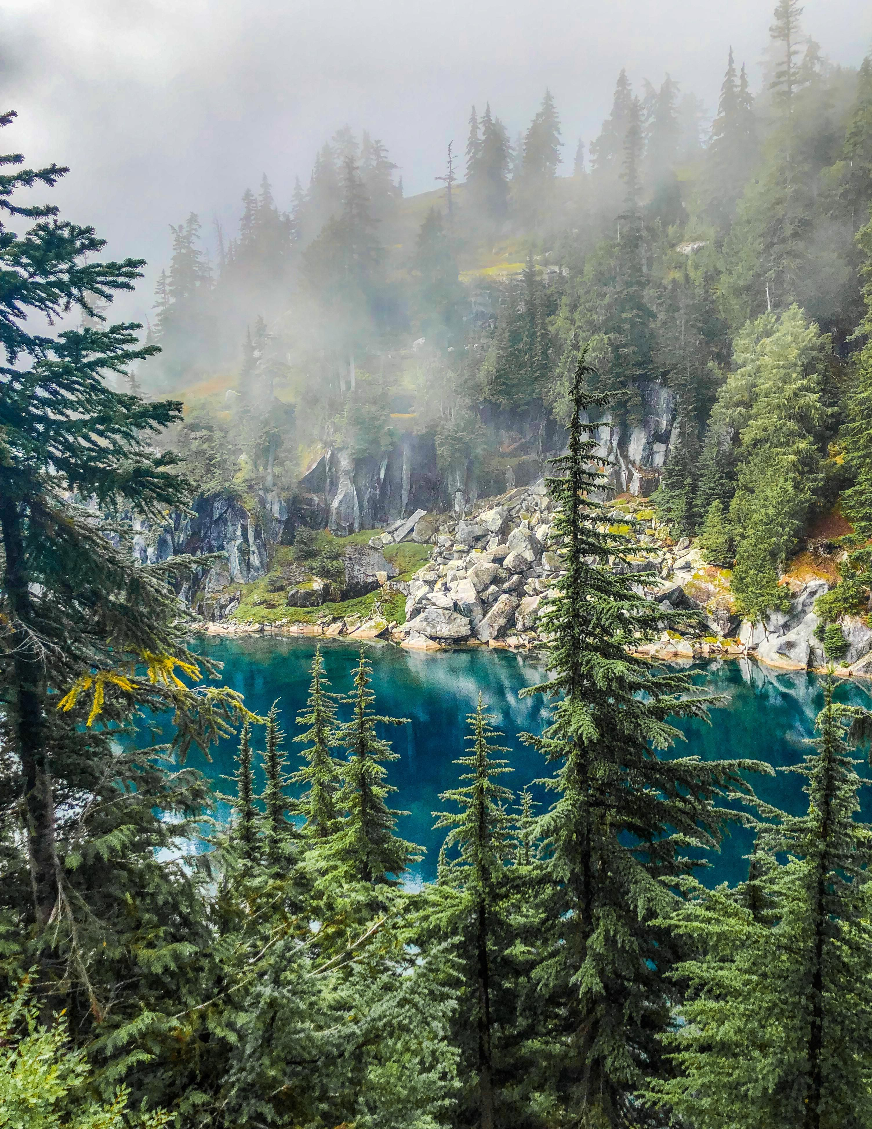 That perfect Washington weather. Alpine Lakes Wilderness