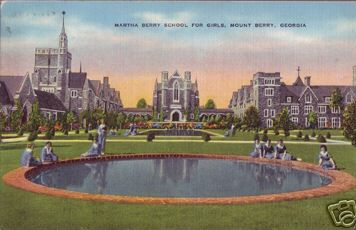 vintage postcard of ford buildings at berry college in rome georgia please visit http romegeorgia org visit rome request information if you re rome georgia pinterest