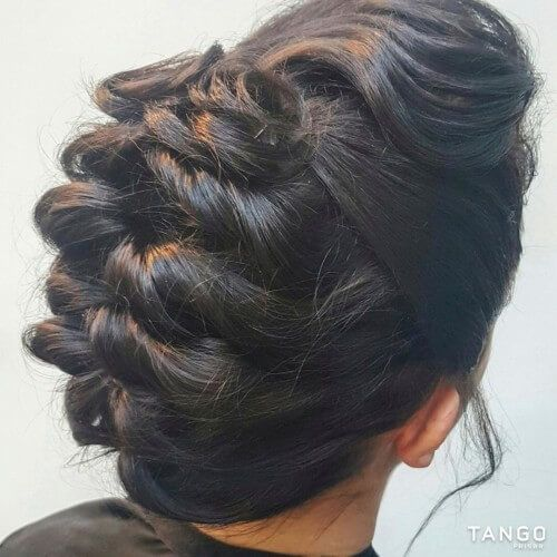 Simple Juda Hairstyle For Wedding: Hair Puff, Tail Hairstyle