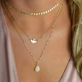 7a2f70e3c576 Collar fino dorado - Todos los modelos de moda al mejor precio ...