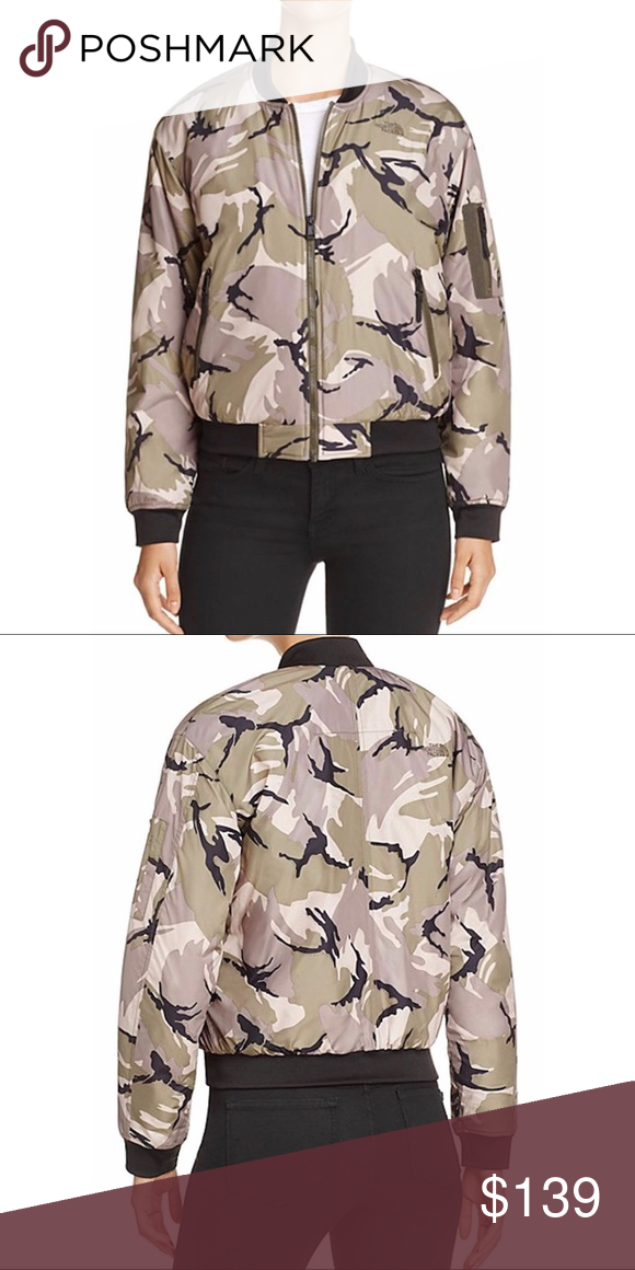 494bcd505 NWT The North Face Barstool Camo Bomber Jacket, L Brand new, tags ...