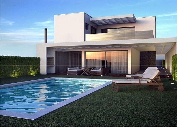 Casas modernas casa moderna litoral rs balne rio for Design casa moderna
