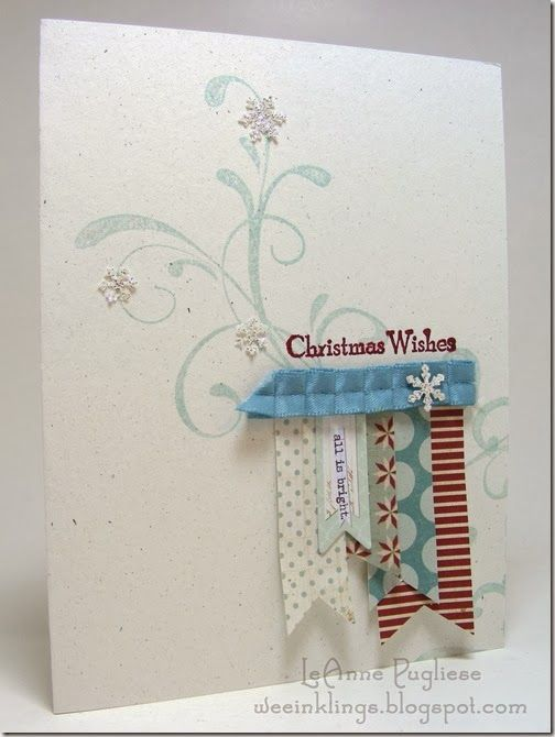 LeAnne Pugliese WeeInklings FMS117 Stampin Christmas
