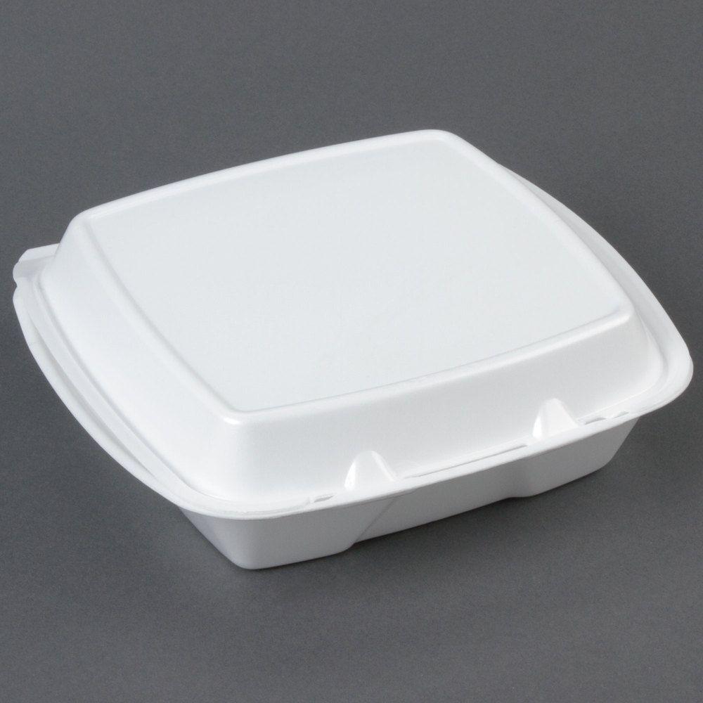 Dart 90htpf1r 9 X 9 X 3 White Foam Square Take Out Container