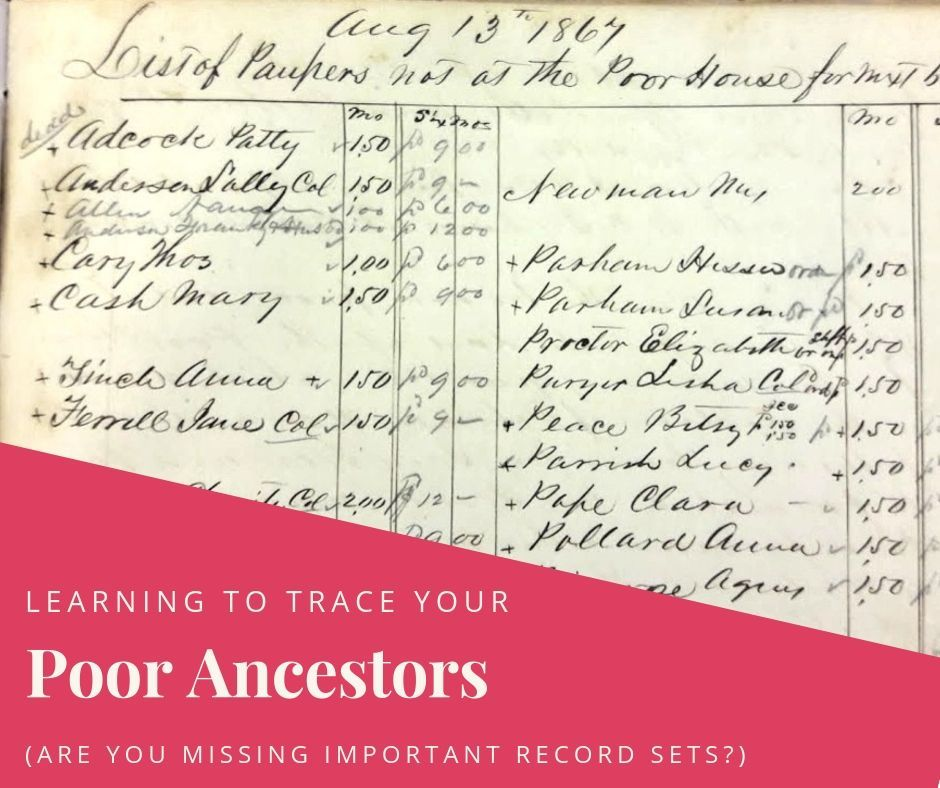 How To Research Your Poor Ancestors #ancestors