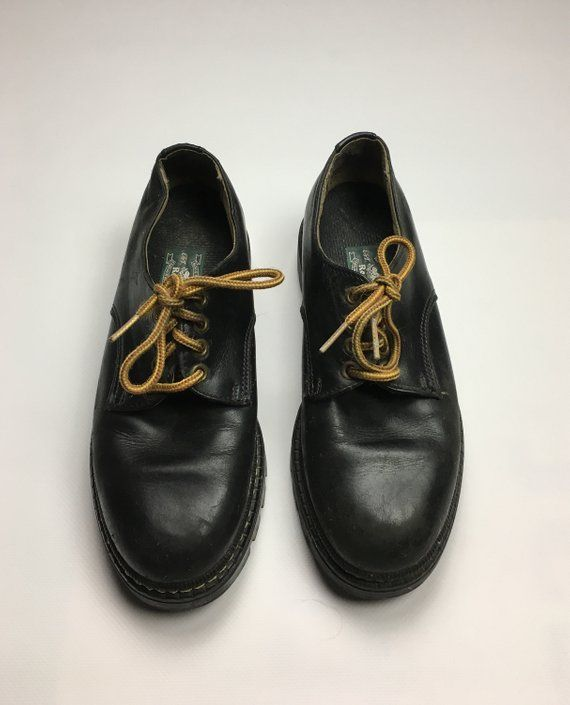 16c96d9711 1980's Vintage Roots Canada Leather Dress Shoes | 1990s / 80s Roots ...