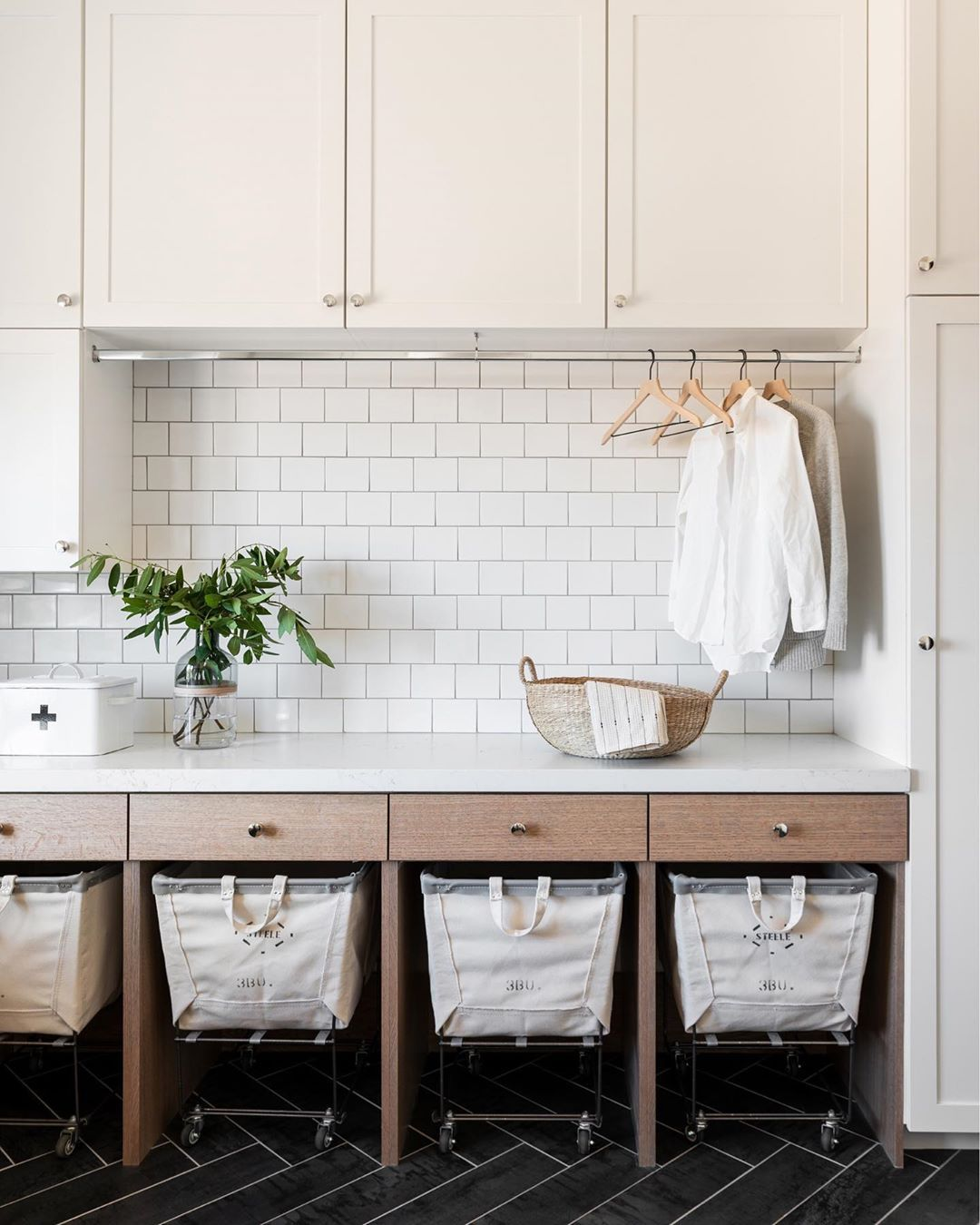"Studio McGee on Instagram: ""Two-tone cabinets aren't just for kitchens - we love the look in laundry rooms too!"